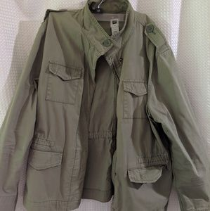 EUC army green utility jacket XL